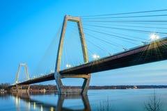 Lewis e Clark Bridge Louisville KY Fotografie Stock Libere da Diritti