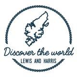 Lewis et Harris Map Outline Image libre de droits