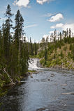 Lewis Falls in the Yellowstone. National Park , Wyoming Stock Images