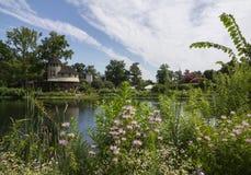 Lewis Ginter Botanical Garden i Richmond, Virginia, USA Arkivfoto