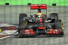 Lewis Hamilton at 2011 Singapore F1 Royalty Free Stock Photo