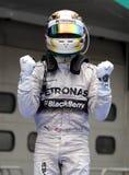 Lewis Hamilton av Mercedes Royaltyfri Foto