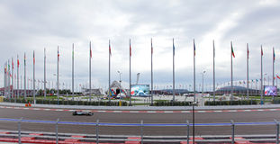 Lewis Hamilton av Mercedes AMG Petronas Formel en Sochi Ryssland Royaltyfria Bilder