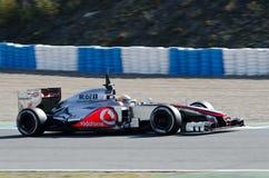 Lewis Hamilton de las personas de McLaren Mercedes Fotos de archivo libres de regalías