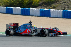 Lewis Hamilton de las personas de McLaren Mercedes Imagen de archivo