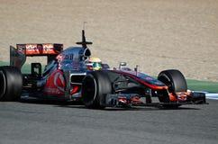 Lewis Hamilton de las personas de McLaren Mercedes Foto de archivo