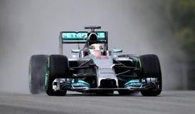 Lewis Hamilton de Mercedes Photo libre de droits