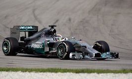Lewis Hamilton de Mercedes Images libres de droits