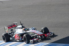 Lewis Hamilton in der Bewegung stockfoto