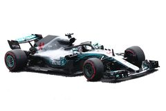 Lewis Hamilton F1 car illustration stock photo