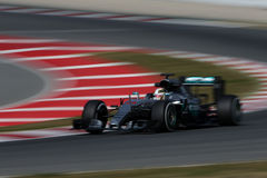 Lewis Hamilton (GBR), AMG Mercedes F1 Team, F1 testing Barcellon. A 2016 Royalty Free Stock Images