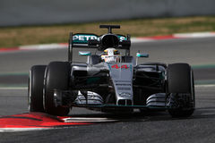 Lewis Hamilton (GBR), AMG Mercedes F1 Team, F1 testing Barcellon. A 2016 Royalty Free Stock Photography