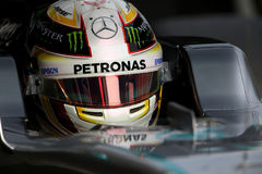 Lewis Hamilton (GBR), AMG Mercedes F1 Team, F1 testing Barcellon Royalty Free Stock Photo