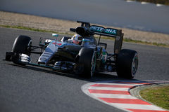 Lewis Hamilton (GBR), AMG Mercedes F1 Team, F1 testing Barcellon Royalty Free Stock Images
