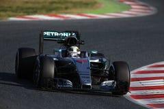 Lewis Hamilton (GBR), AMG Mercedes F1 Team, F1 testing Barcellon. A 2016 Royalty Free Stock Photos