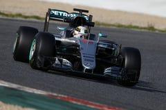 Lewis Hamilton (GBR), AMG Mercedes F1 Team, F1 testing Barcellon. A 2016 Royalty Free Stock Photo