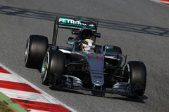 Lewis Hamilton (GBR), AMG Mercedes F1 Team, F1 testing Barcellon Stock Photography