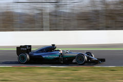 Lewis Hamilton (GBR), AMG Mercedes F1 Team, F1 testing Barcellon Royalty Free Stock Photography