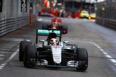 Lewis Hamilton (GBR), AMG Mercedes F1 Team, 2016 Monaco Gp,. Race Royalty Free Stock Photos
