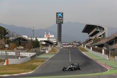 Lewis Hamilton (GBR), AMG Mercedez F1 drużyna, F1 bada Barcellon Obrazy Stock
