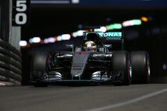 Lewis Hamilton (GBR), AMG Mercedez F1 drużyna, 2016 Monaco Gp, qual Zdjęcie Stock