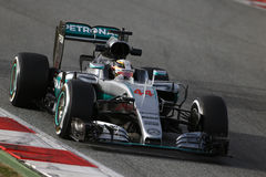 Lewis Hamilton (GBR), equipo de AMG Mercedes F1, F1 que prueba Barcellon Foto de archivo