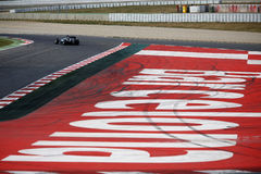 Lewis Hamilton (GBR), equipo de AMG Mercedes F1, F1 que prueba Barcellon Fotos de archivo libres de regalías