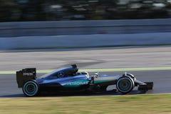 Lewis Hamilton (GBR), gruppo di AMG Mercedes F1, F1 che prova Barcellon Fotografie Stock Libere da Diritti