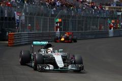 Lewis Hamilton (GBR), lag för AMG Mercedes F1, Monaco Gp 2016, arkivbild