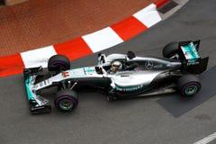 Lewis Hamilton (GBR); Lag för AMG Mercedes F1; Monaco Gp 2016; fritt royaltyfri foto