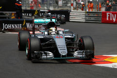 Lewis Hamilton (GBR), lag för AMG Mercedes F1, Monaco Gp som 2016 är fri arkivfoto