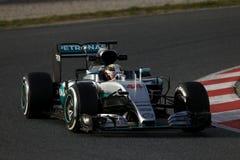 Lewis Hamilton (GBR), Team AMG Mercedes F1, F1, das Barcellon prüft Stockfotos