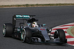 Lewis Hamilton (GBR), Team AMG Mercedes F1, F1, das Barcellon prüft Stockbild