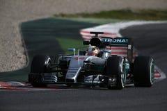 Lewis Hamilton (GBR), Team AMG Mercedes F1, F1, das Barcellon prüft Stockbilder