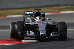 Lewis Hamilton (GBR), Team AMG Mercedes F1, F1, das Barcellon prüft Lizenzfreie Stockfotografie