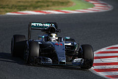 Lewis Hamilton (GBR), Team AMG Mercedes F1, F1, das Barcellon prüft Lizenzfreie Stockfotos