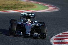 Lewis Hamilton (GBR), Team AMG Mercedes F1, F1, das Barcellon prüft Lizenzfreies Stockbild
