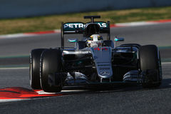 Lewis Hamilton (GBR), Team AMG Mercedes F1, F1, das Barcellon prüft Lizenzfreie Stockbilder