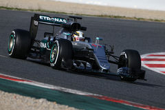 Lewis Hamilton (GBR), Team AMG Mercedes F1, F1, das Barcellon prüft Lizenzfreies Stockfoto