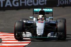 Lewis Hamilton (GBR), Team AMG Mercedes F1, Monaco Gp 2016, frei Lizenzfreie Stockfotografie