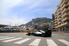 Lewis Hamilton (GBR), Team AMG Mercedes F1, Monaco Gp 2016, qual Lizenzfreie Stockfotografie