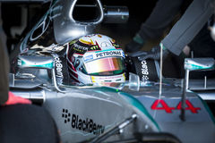 Lewis Hamilton, Jerez - 2015 Zdjęcie Stock