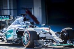 Lewis Hamilton, Jerez - 2015 Obrazy Royalty Free