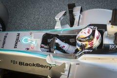 Lewis Hamilton - Jerez 2015 Fotos de Stock Royalty Free