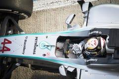 Lewis Hamilton - Jerez 2015 Fotos de Stock