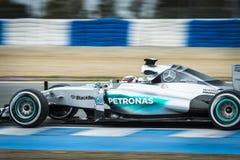 Lewis Hamilton - Jerez 2015 Fotografia de Stock Royalty Free