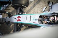 Lewis Hamilton - Jerez 2015 Foto de Stock Royalty Free