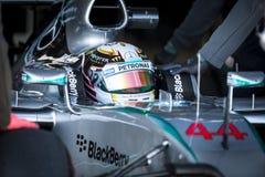Lewis Hamilton - Jerez 2015 Stock Photo
