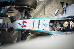 Lewis Hamilton - Jerez 2015 Royalty Free Stock Photo
