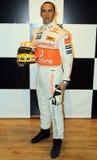 Lewis Hamilton at Madame Tussaud's royalty free stock photo
